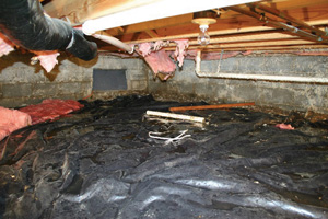 Crawl Space Repair Before in Myrtle Beach