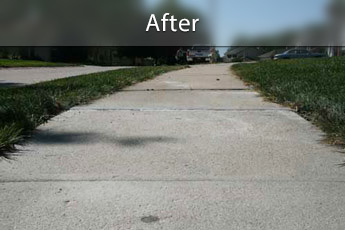 Fixing sunken concrete with PolyLevel® in Myrtle Beach