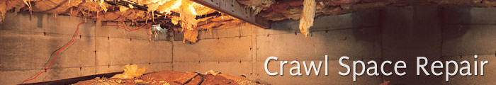 Crawl Space Repair in SC and NC, including North Myrtle Beach, Sumter & Myrtle Beach.