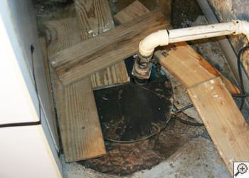 An ugly, clogged sump pump system in Lancaster, South and North Carolina