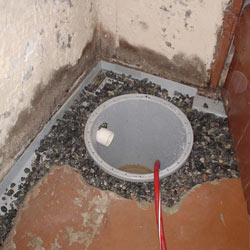 Installing a sump in a sump pump liner in a Sumter home