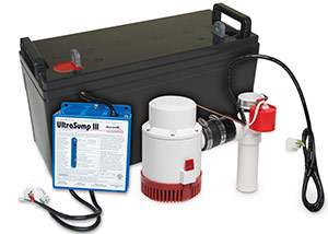 a battery backup sump pump system in Bennettsville