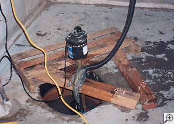 A Manning sump pump system that failed and lead to a basement flood.