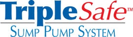 Sump pump system logo for our TripleSafe™, available in areas like Hemingway