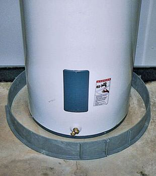 An old water heater in Mullins, SC and NC with flood protection installed