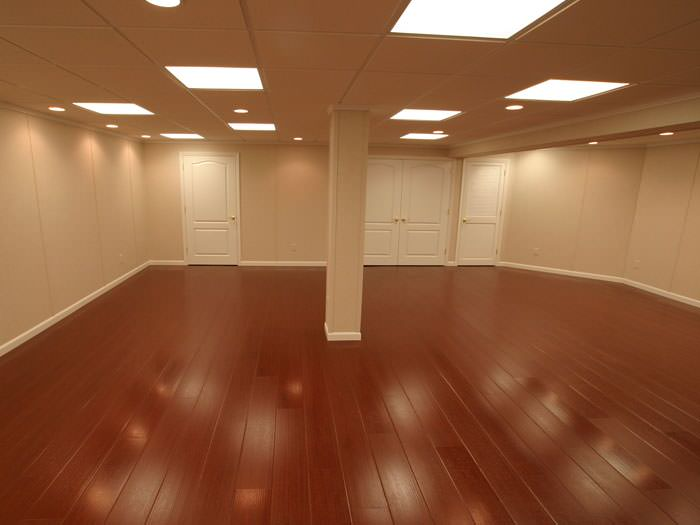 Rosewood Faux Wood Basement Flooring For Finished Basements In Myrtle Beach