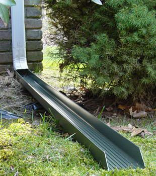 Gutter downspout extension installed in Little River