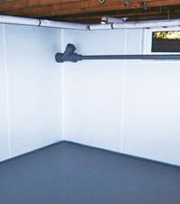 Plastic basement wall panels installed in a Darlington, South and North Carolina home