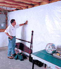 Plastic 20-mil vapor barrier for dirt basements, Darlington, South and North Carolina installation