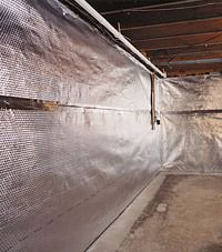 Radiant heat barrier and vapor barrier for finished basement walls in Darlington, South and North Carolina
